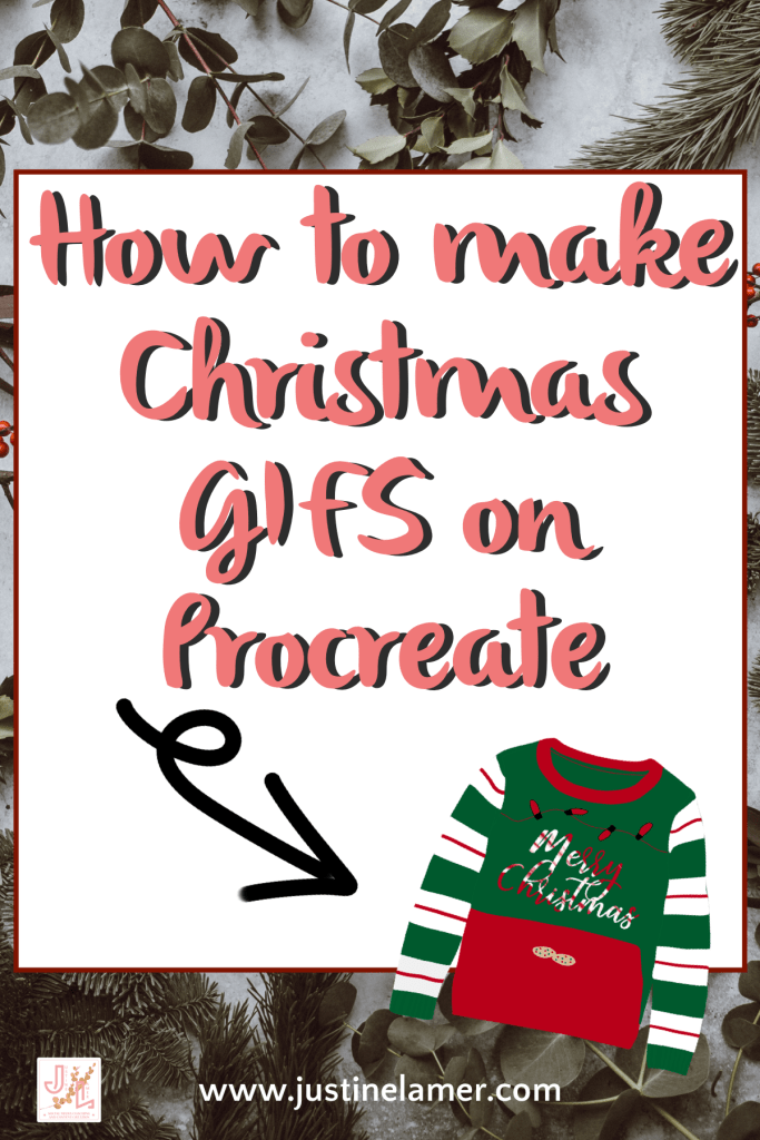 How to make Christmas gifs on procreate