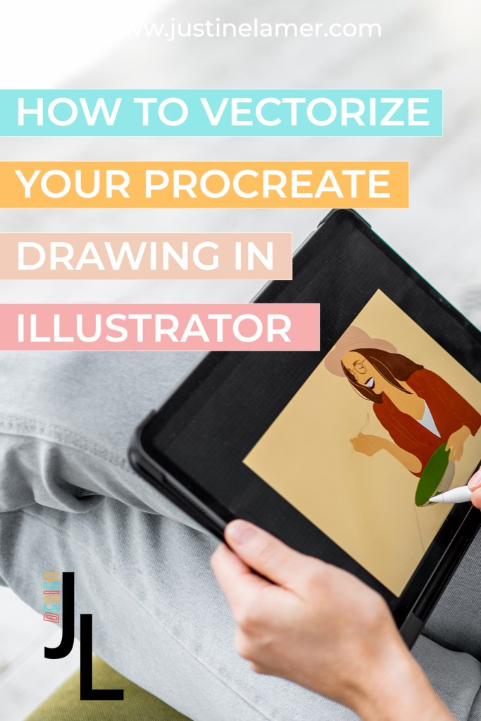HOW TO VECTORIZE YOUR PROCREATE DRAWING IN ILLUSTRATOR PIN 1