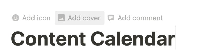 how to make a content calendar using notion