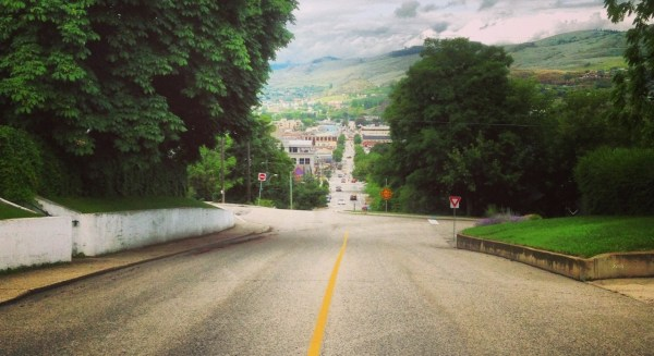 Final mile: Justin Jackson biking in Vernon BC