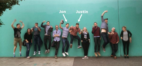 Jon Buda and Justin Jackson, Portland, Oregon, XOXO Festival 2014