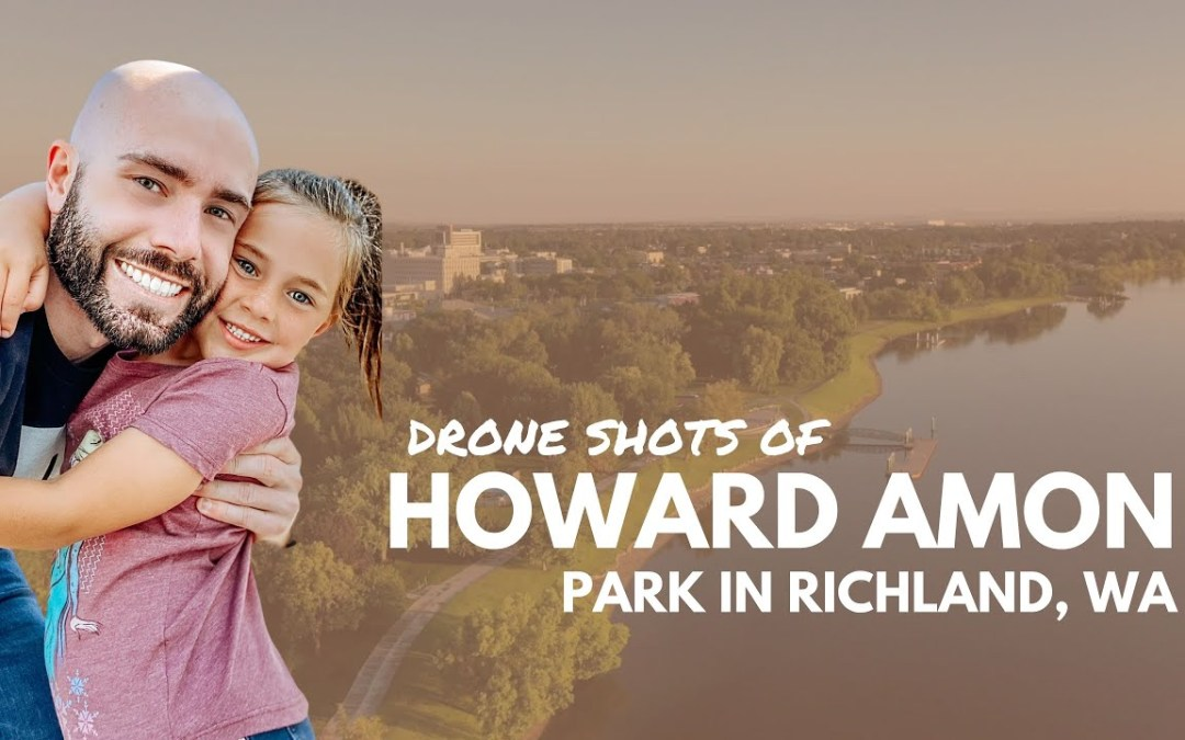 Drone Shots of Howard Amon Park in Richland WA