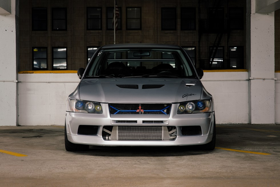 Front shot of my Mitsubishi Evo 7