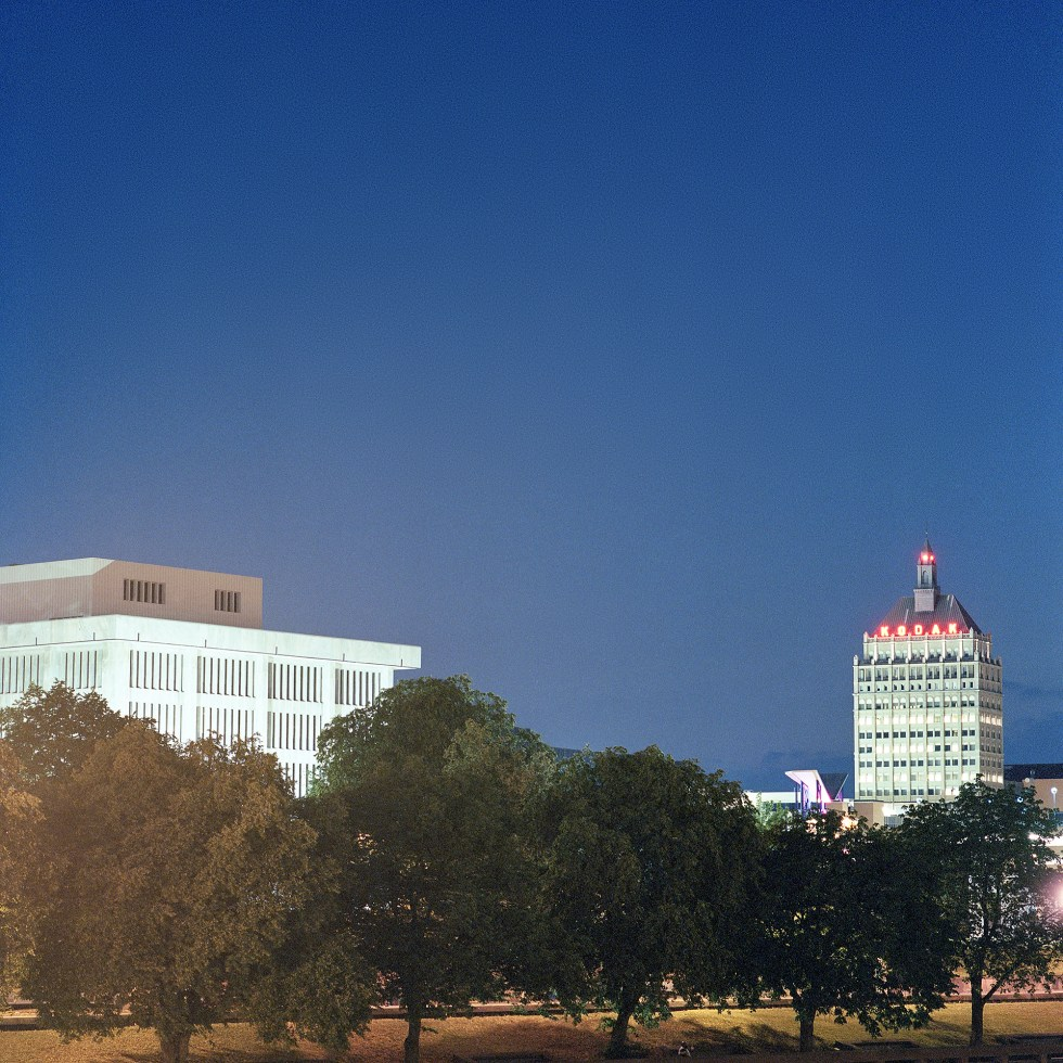 Kodak Headquarters at night