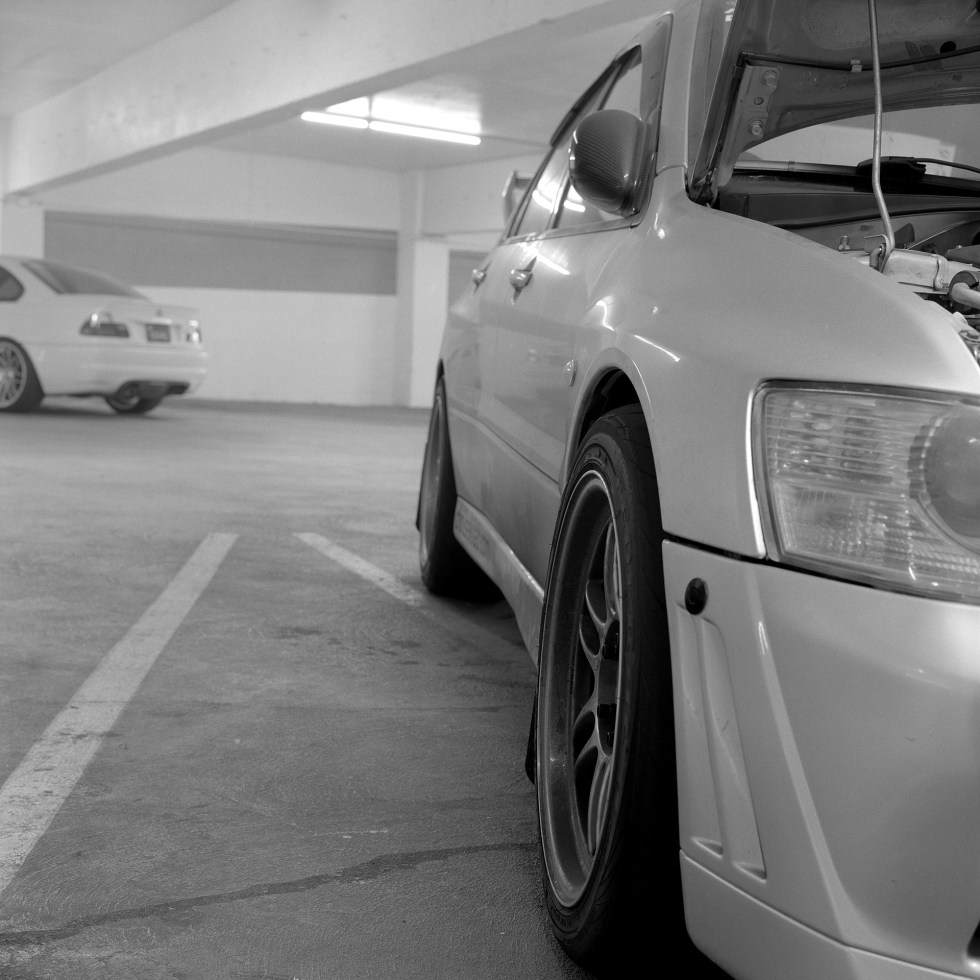 Looking down the side of my dirty Evo