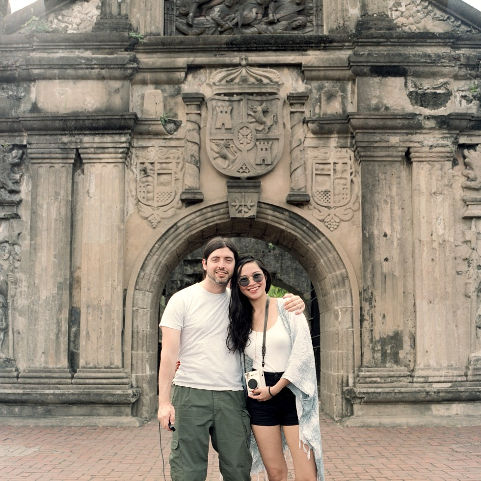 Zab and I standing outside the main walls of Fort Santiago