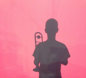 Trombone with shadow