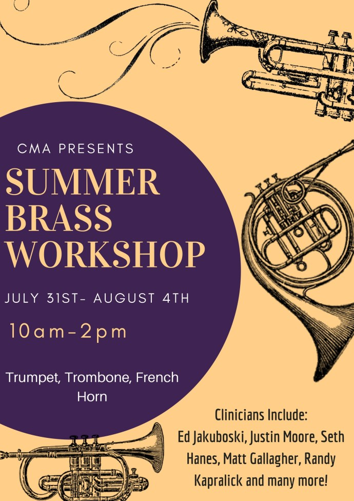 CMA Brass Summer Workshop 2017