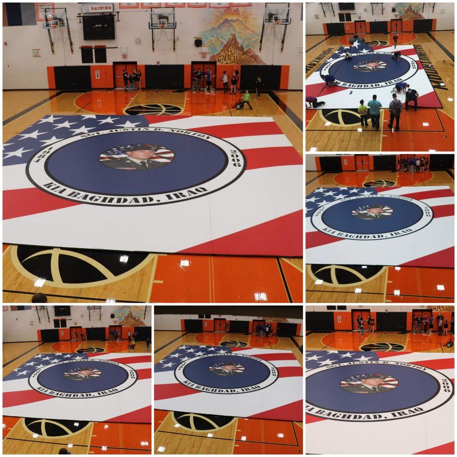 Wrestling Mat at Rainier High School