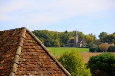 Distant Church in Baigts-de-Béarn