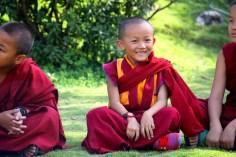 A Little Monk having Fun in Class