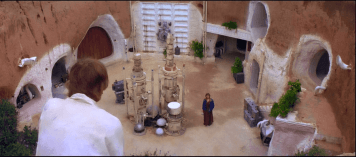 Main View of the Lars' Homestead (Star Wars: Episode IV - A New Hope. 1977)