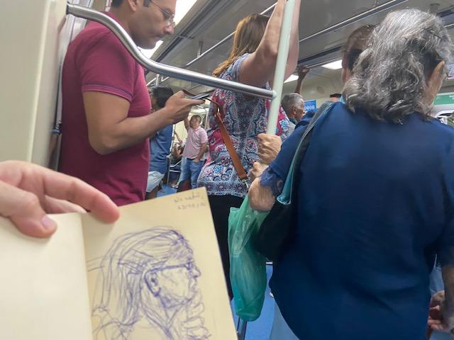 Série: No metrô - 4, Justino, fotografia, 2020.
