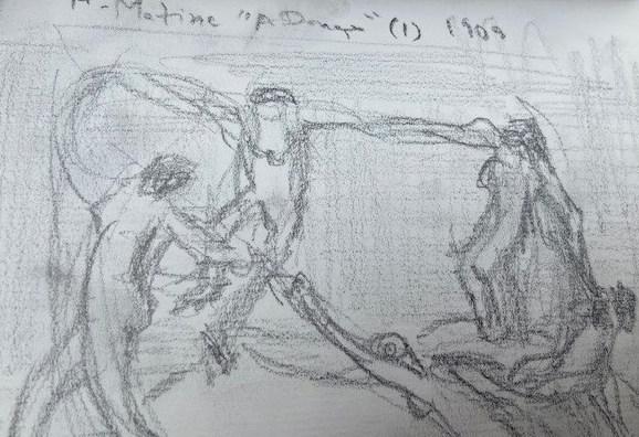 Uma notei no museu - 1, Justino, lápis, 2019.