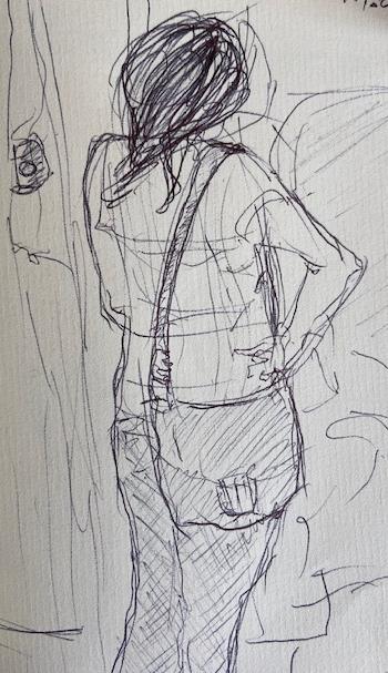 Série: No metrô - 20, Justino, fotografia, 2020.