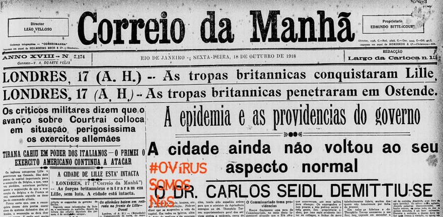 OVirusCorreioDaManha1918, Justino, 2020.