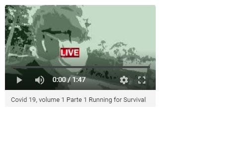 """Still do vídeo """"Running for Survival"""", Justino, 1'47"""", 2020."""