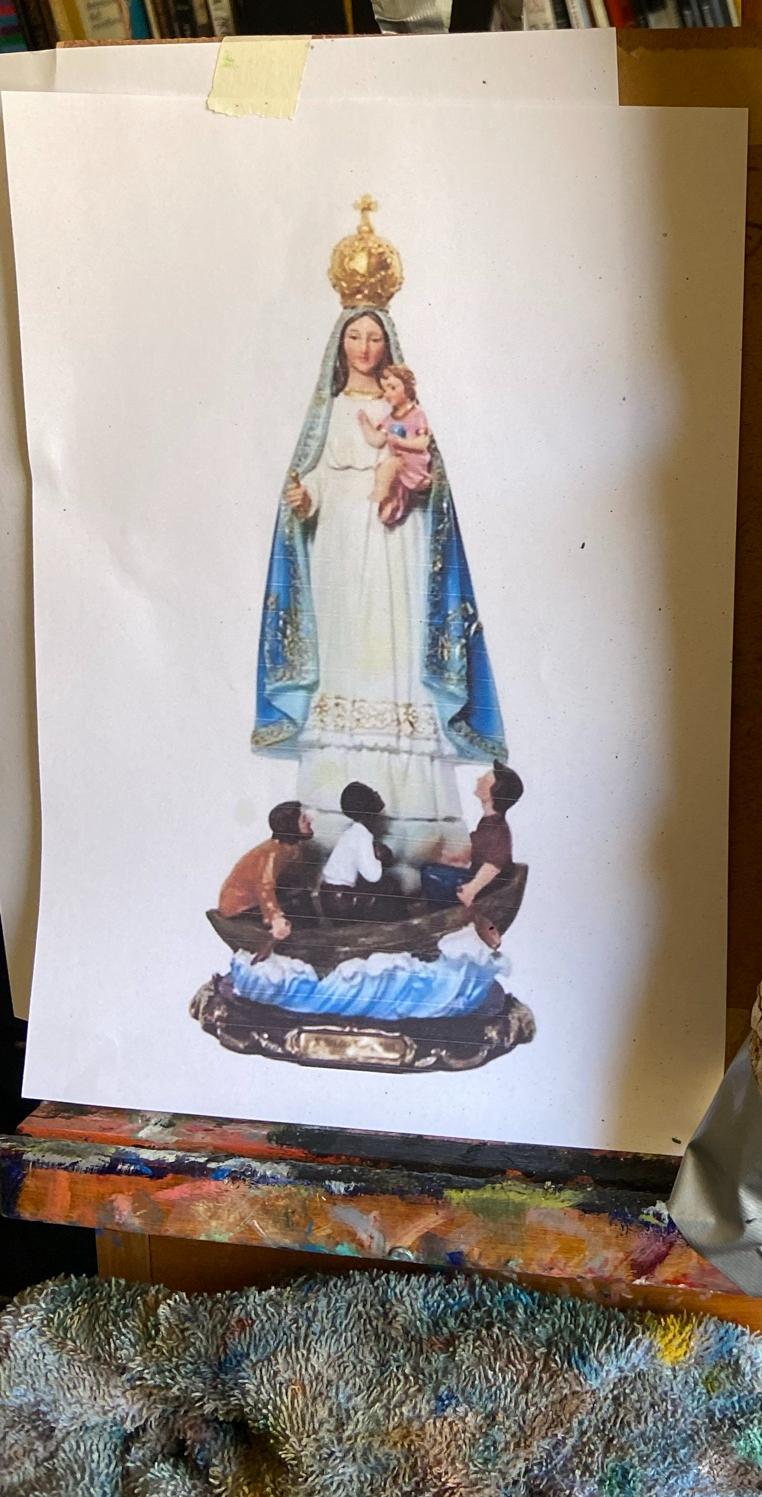 Uma Nossa Senhora Popular, vendida no mercado livre