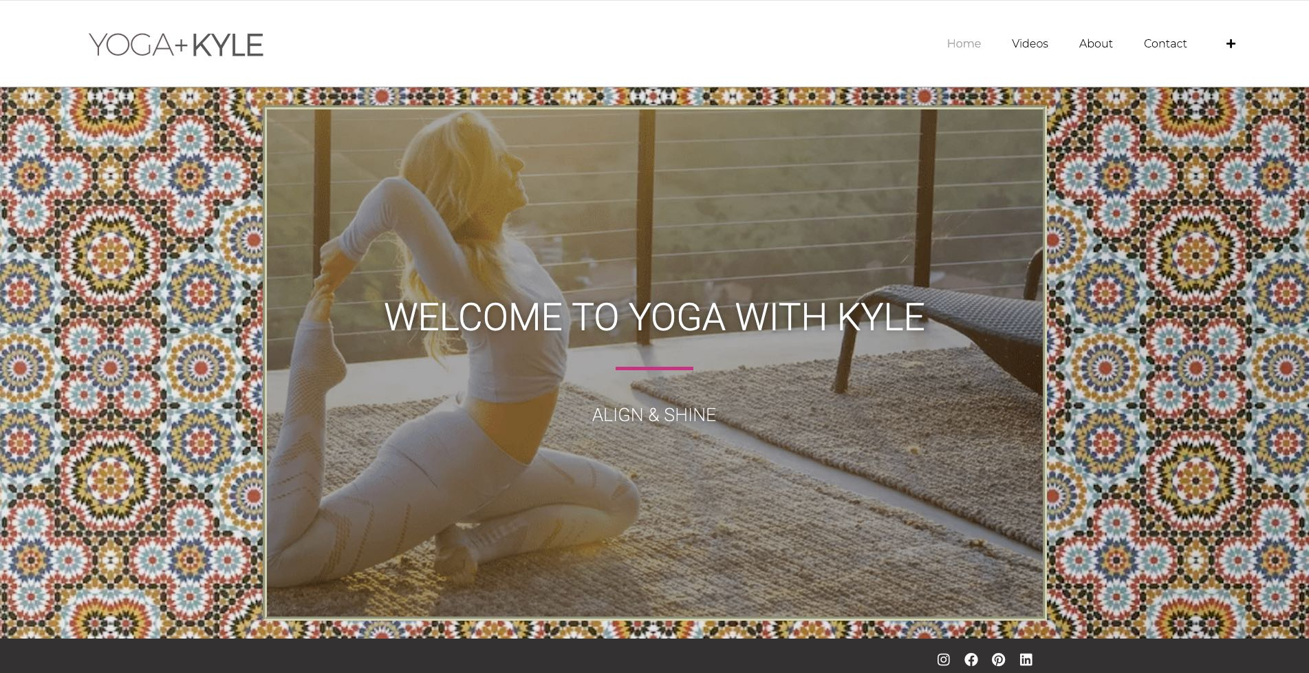 kyle lardner yoga website