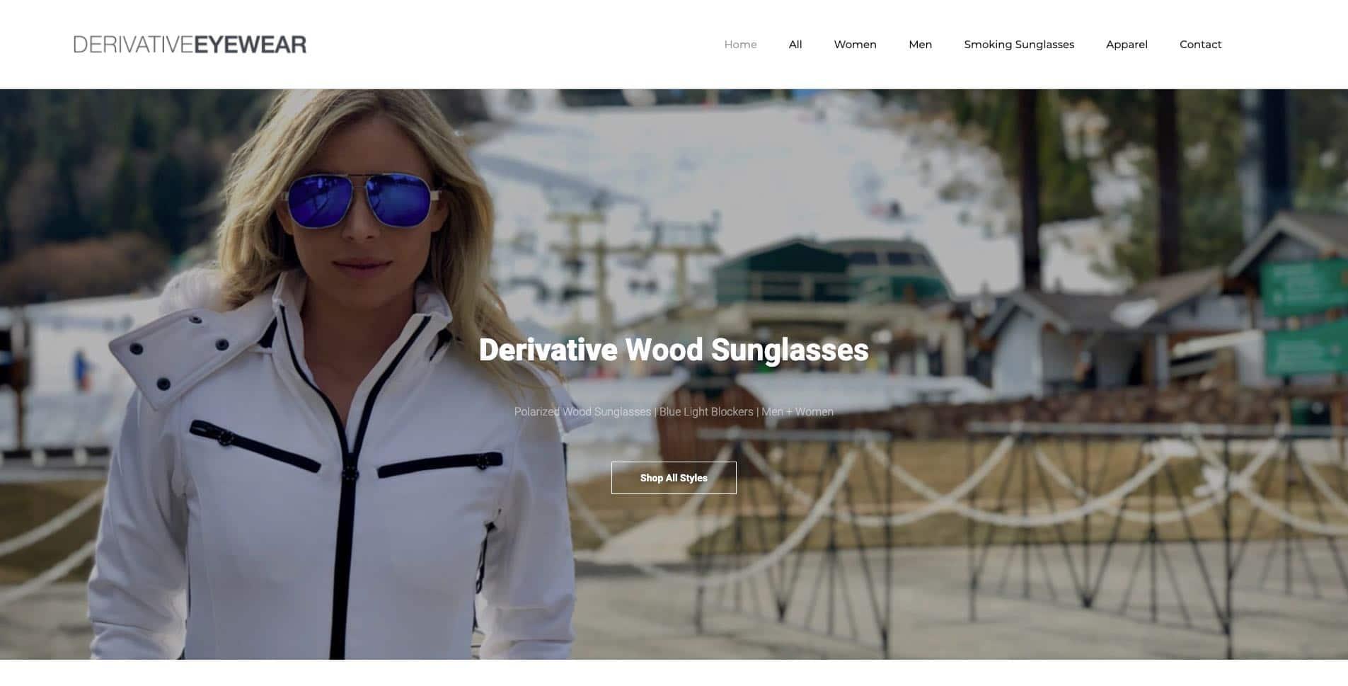 eyewear sunglasses glasses website design