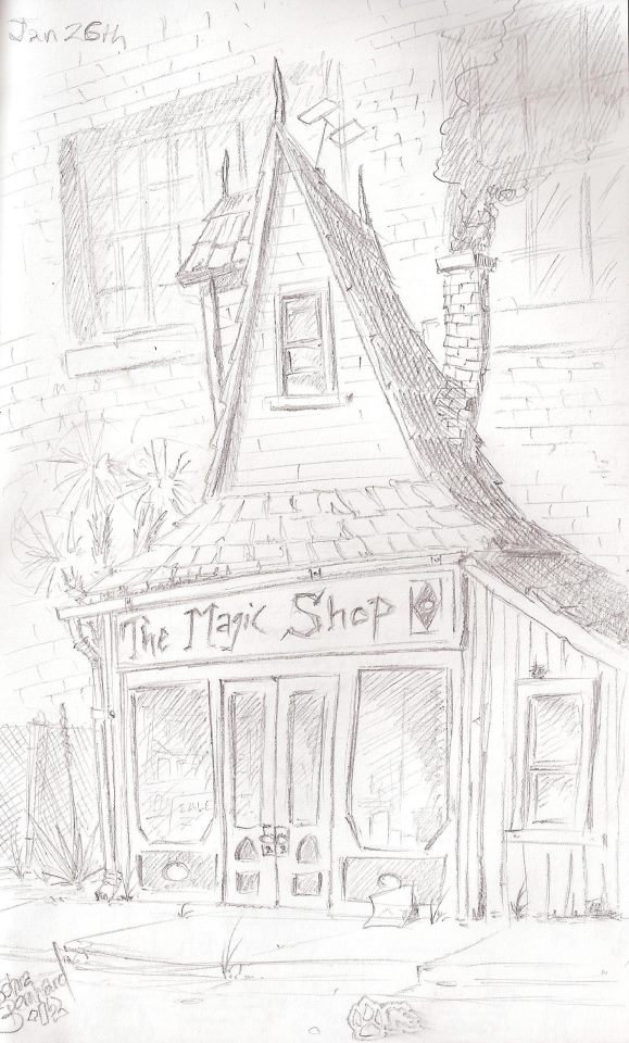 magic shop illustration