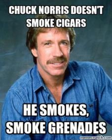 norris smokes granades