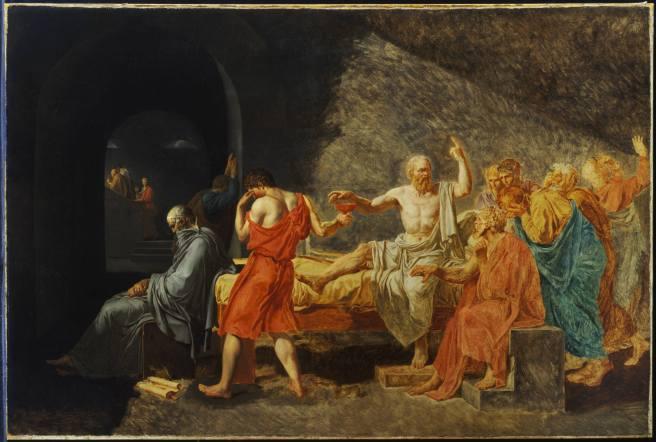Socrates taking hemlock cup