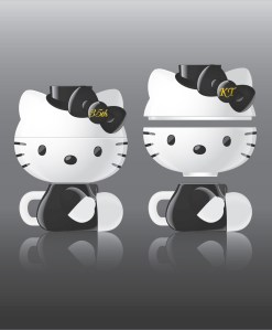 Hello Kitty ceramic set designed for afternoon tea