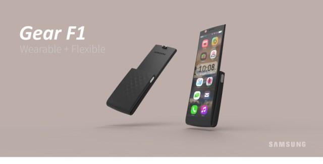 Samsung wearable phone Gear F1 2016 poster 2 flaten
