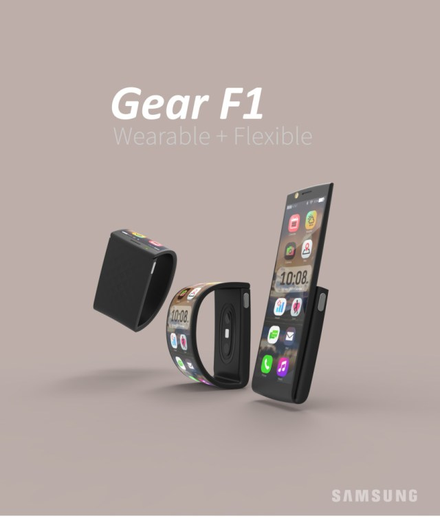 Samsung wearable phone Gear F1 2016 poster portrait JPG v01
