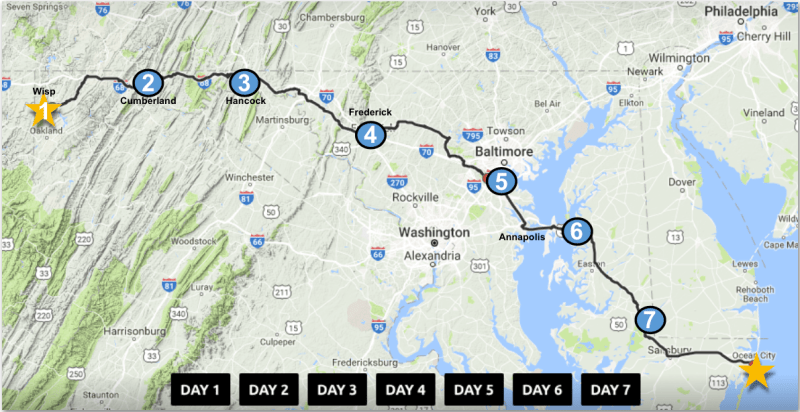 Maryland Trek: Daily Interactive Route Maps – Just In Weather
