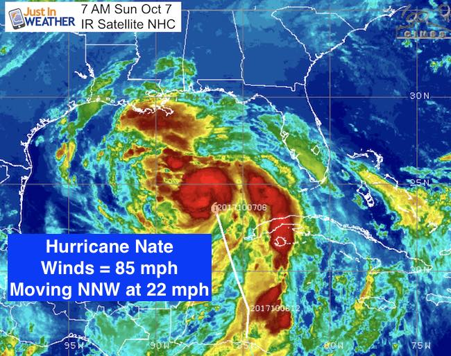 Hurricane Nate Moving Fast And Still Set To Bring Us Heavy Rain ...