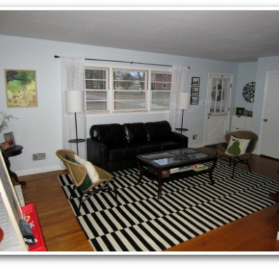Livingroom Redo {before & after}