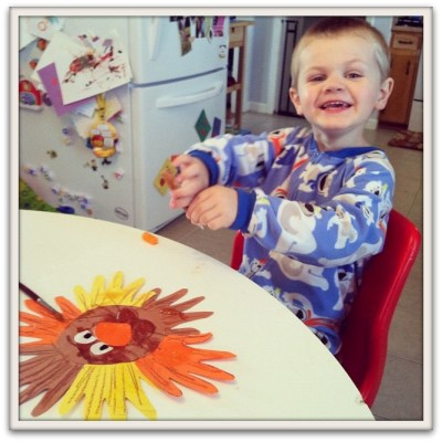 Handprint Lion Toddler Craft