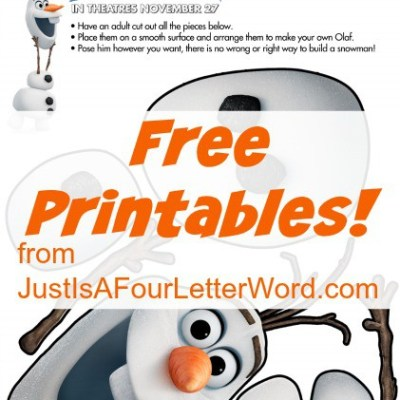 Free printables from Disney's Frozen