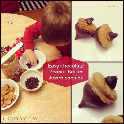 Easy acorn cookies to make with kids!