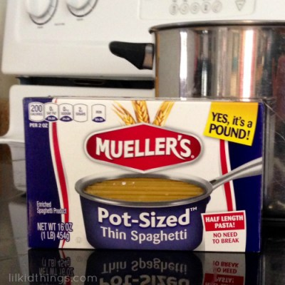 Try Mueller's Pot-Sized Pasta!