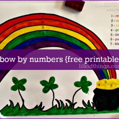 St. Patrick's Day Rainbow activity sheet {free printable}