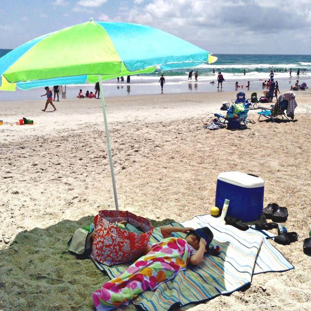 Summer beach nap