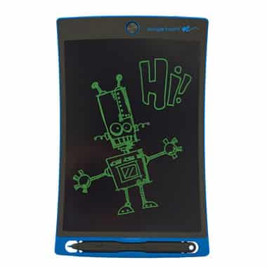 9 ways to make a road trip with kids more fun! We love this Boogie Board for fun drawing time and no mess.