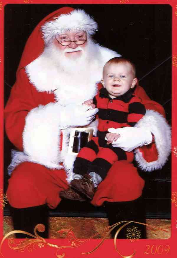 First visit with Santa for the Christmas Card 2009