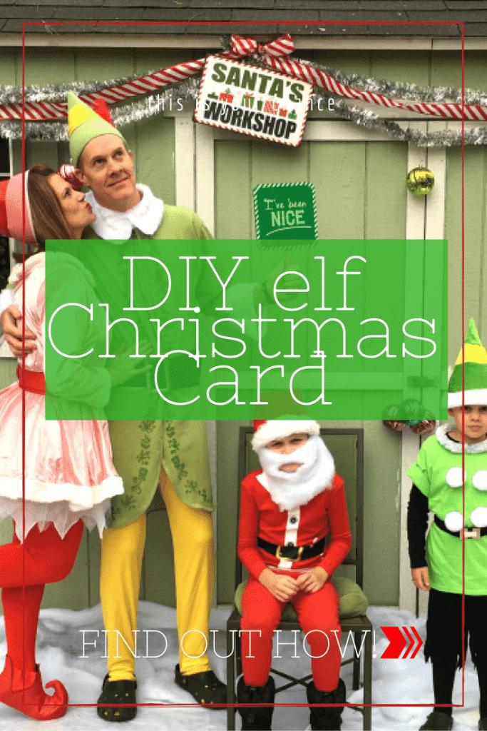 DIY elf Christmas Card at home