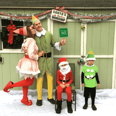 Our Elf Christmas Card and a Look Back at the Past 10 Years of Cards