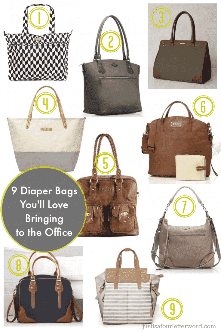 9 stylish diaper bags you'll love bringing to the office.