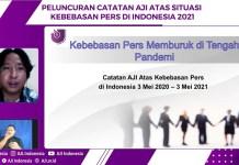 AJI Launching Catatan Situasi Kebebasan Pers Indonesia 2021: Naik Peringkat dengan Kondisi Buruk