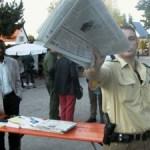 Pforzheimer Polizisten verstecken sich gerne vor der kritischen Presse. Foto: JW