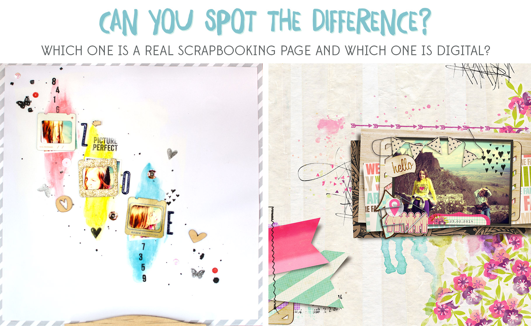 Learn Digital Scrapbooking - Spot the difference