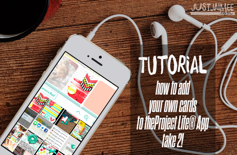 Tutorial : Project Life® App take 2 – Using dropbox and Stacked Pocket Cards!