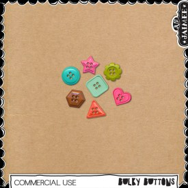 Digital Scrapbooking Commercial Use - Bulky Buttons