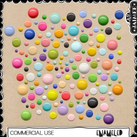Digital Scrapbooking Commercial Use - Enameled